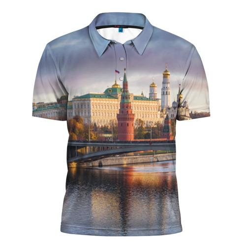 Мужская рубашка поло 3D Россия