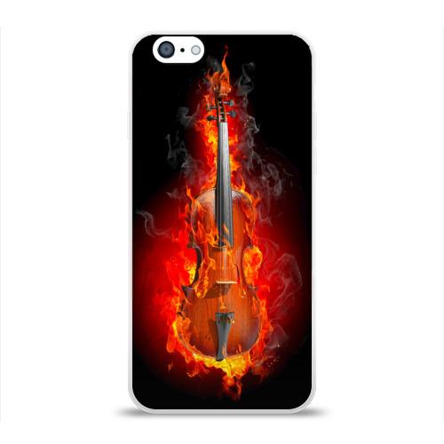 Чехол для Apple iPhone 6 силиконовый глянцевый  Фото 01, Скрипка