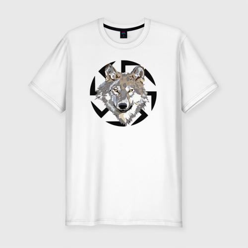 Мужская футболка премиум Волк