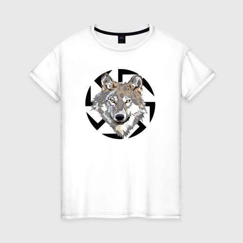 Женская футболка хлопок Волк