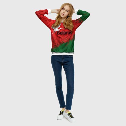 Женский свитшот 3D Belarus 2