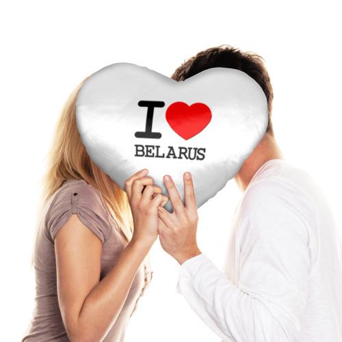 Подушка 3D сердце  Фото 03, Люблю Беларусь 3