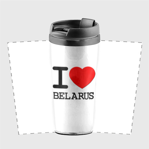 Термокружка-непроливайка  Фото 02, Люблю Беларусь 3