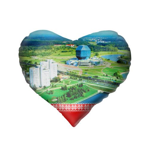 Подушка 3D сердце  Фото 02, За Беларусь!