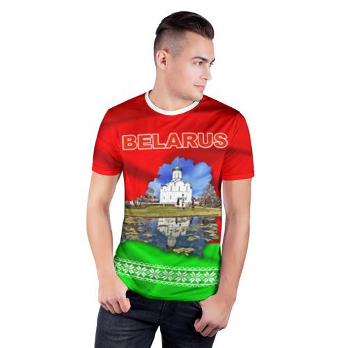 Мужская футболка 3D спортивная  Фото 03, Belarus 13