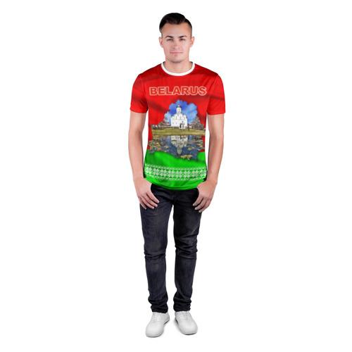 Мужская футболка 3D спортивная  Фото 04, Belarus 13