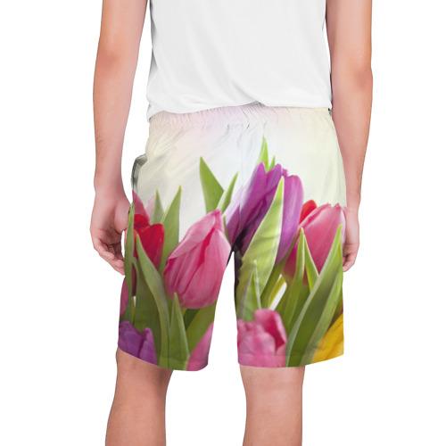 Мужские шорты 3D Тюльпаны Фото 01