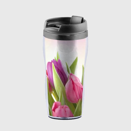 Термокружка-непроливайка Тюльпаны Фото 01