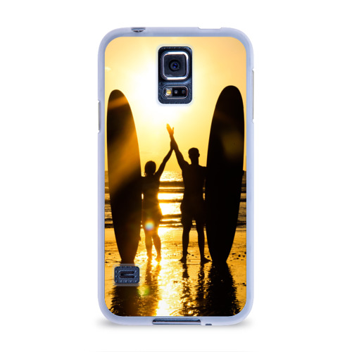 Чехол для Samsung Galaxy S5 силиконовый  Фото 01, Сёрфинг