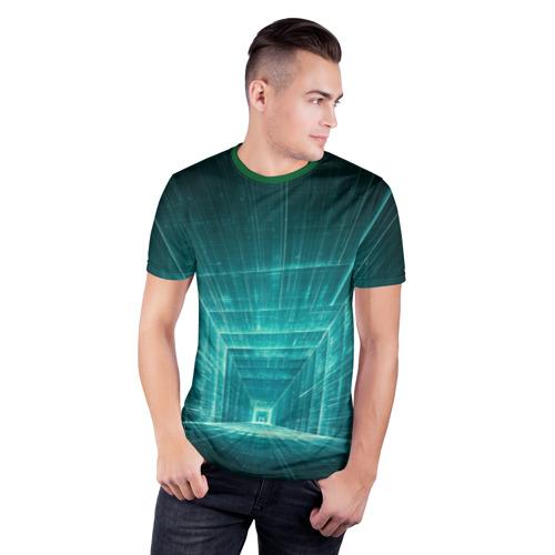 Мужская футболка 3D спортивная  Фото 03, Цифровой тоннель