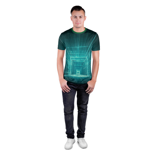Мужская футболка 3D спортивная  Фото 04, Цифровой тоннель