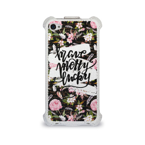 Чехол для Apple iPhone 4/4S flip Pretty