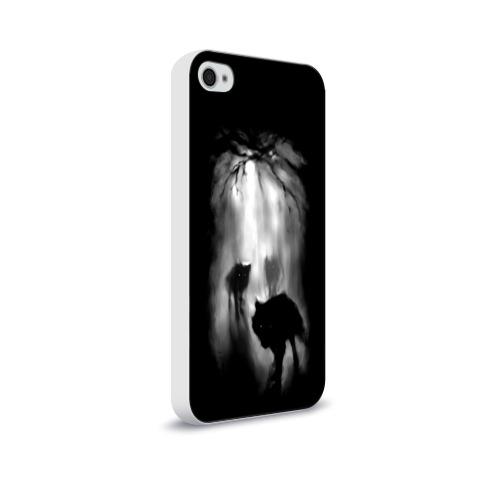 Чехол для Apple iPhone 4/4S soft-touch  Фото 02, Волки в лесу