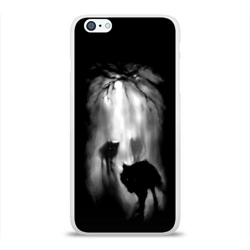 Чехол для Apple iPhone 6Plus/6SPlus силиконовый глянцевый  Фото 01, Волки в лесу