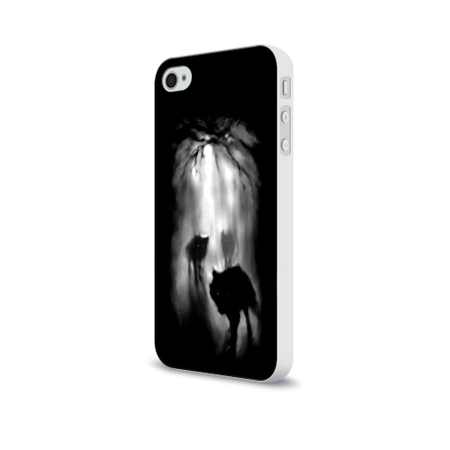 Чехол для Apple iPhone 4/4S soft-touch  Фото 03, Волки в лесу