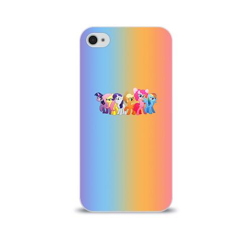 Чехол для Apple iPhone 4/4S soft-touch  Фото 01, My little pony 1