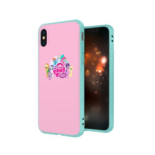 Чехол для Apple iPhone X силиконовый матовый My little pony 2 Фото 01