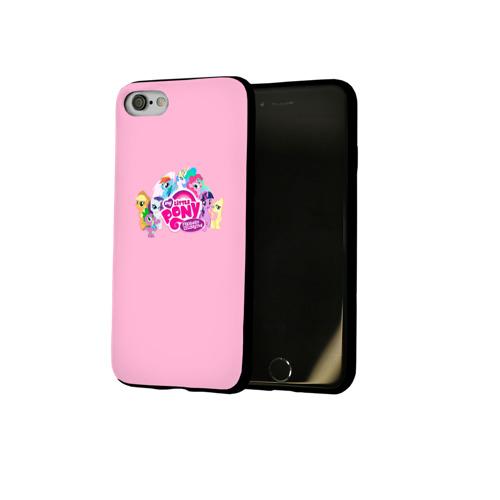 Чехол для Apple iPhone 8 силиконовый глянцевый My little pony 2 Фото 01