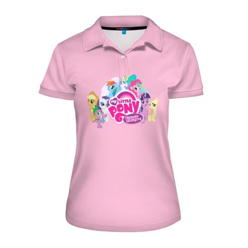 Женская рубашка поло 3D My little pony 2