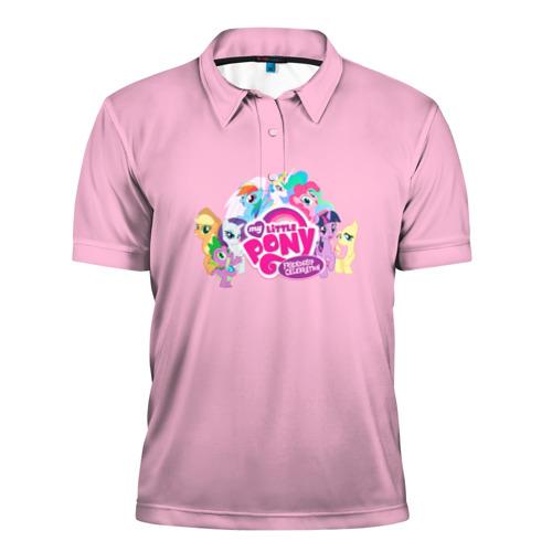Мужская рубашка поло 3D My little pony 2 Фото 01