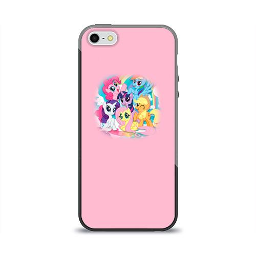 Чехол для Apple iPhone 5/5S силиконовый глянцевый My little pony 3 Фото 01