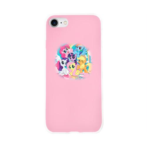 Чехол для Apple iPhone 8 силиконовый глянцевый My little pony 3 Фото 01