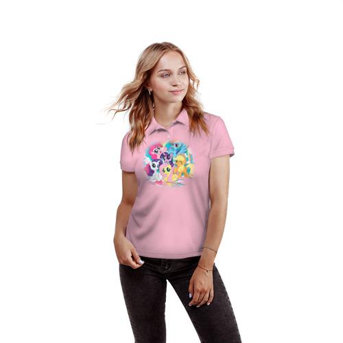 Женская рубашка поло 3D  Фото 03, My little pony 3