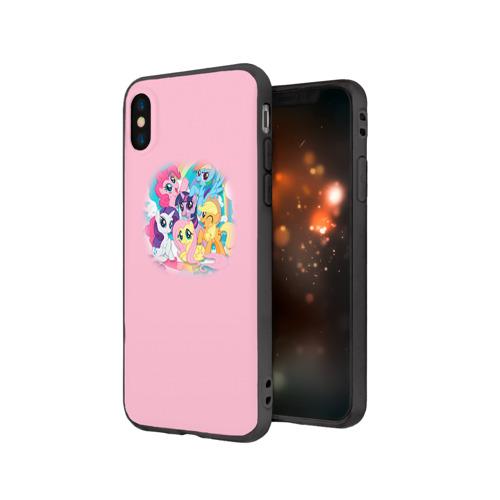 Чехол для Apple iPhone X силиконовый матовый My little pony 3 Фото 01