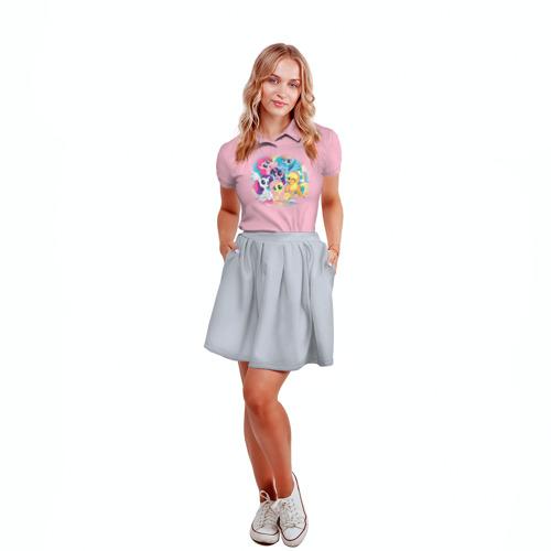 Женская рубашка поло 3D  Фото 04, My little pony 3