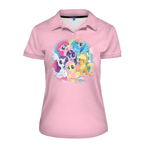 Женская рубашка поло 3D My little pony 3
