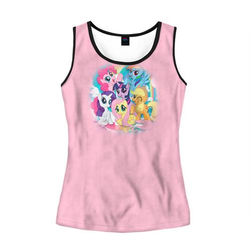 Женская майка 3D My little pony 3