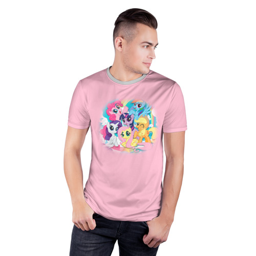 Мужская футболка 3D спортивная My little pony 3 Фото 01