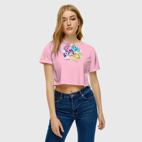 Женская футболка Cropp-top My little pony 3 Фото 01