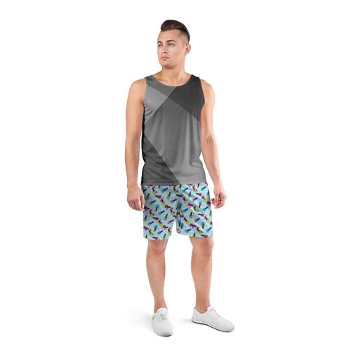 Мужские шорты 3D спортивные  Фото 04, Nail maniac