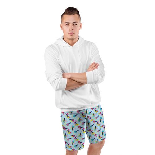 Мужские шорты 3D спортивные  Фото 05, Nail maniac