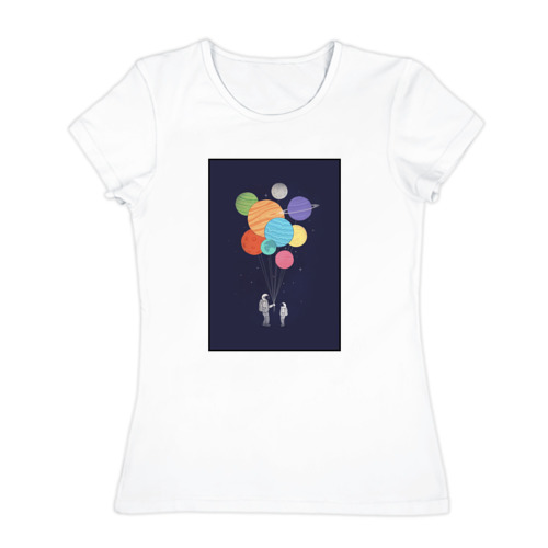 Женская футболка хлопок  Фото 01, Космонавт 3.3