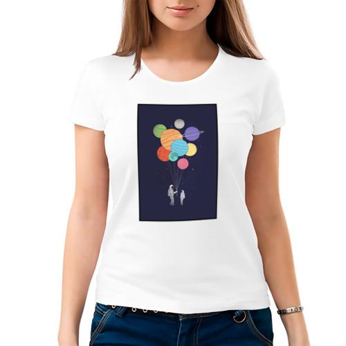 Женская футболка хлопок  Фото 03, Космонавт 3.3