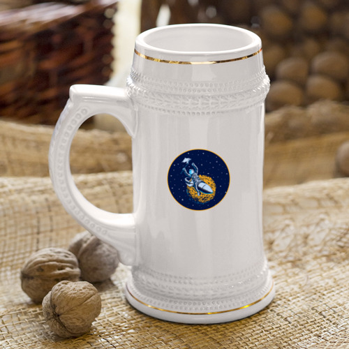 Кружка пивная  Фото 04, Космонавт 10.1
