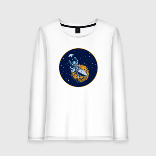 Женский лонгслив хлопок  Фото 01, Космонавт 10.1