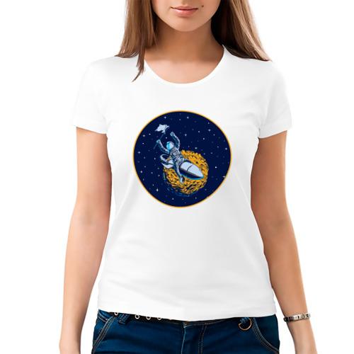 Женская футболка хлопок  Фото 03, Космонавт 10.1