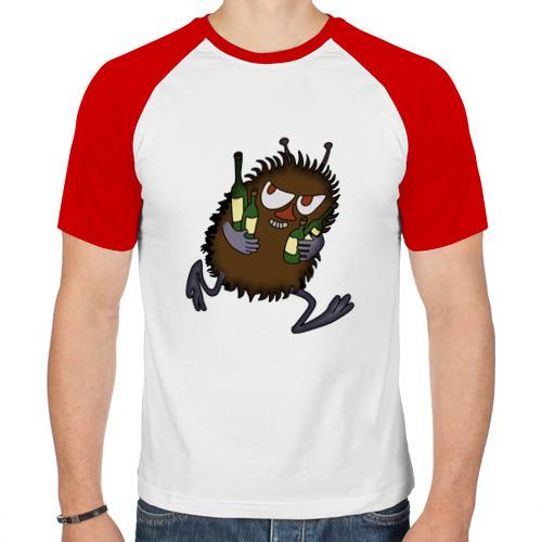 Мужская футболка реглан  Фото 01, Вонючка Стинки с бутылками