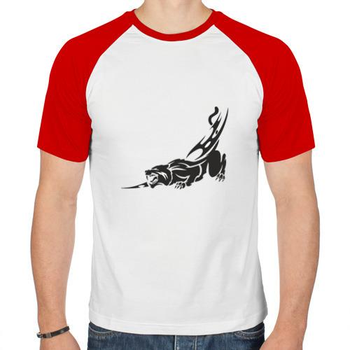 Мужская футболка реглан  Фото 01, Рысь