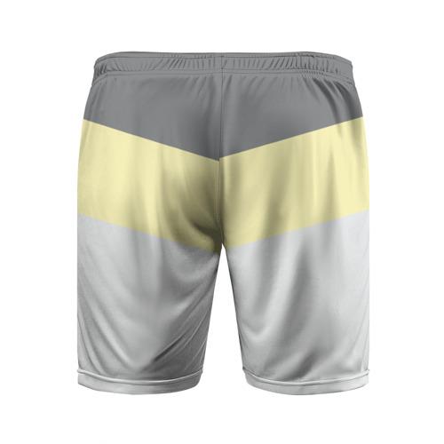 Мужские шорты 3D спортивные  Фото 02, Полосы угол 2