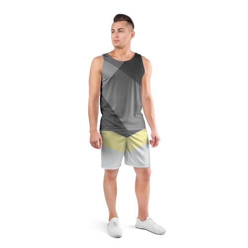Мужские шорты 3D спортивные  Фото 04, Полосы угол 2