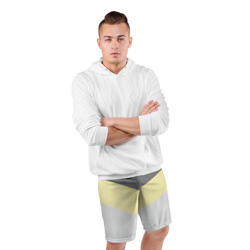 Мужские шорты 3D спортивные  Фото 05, Полосы угол 2