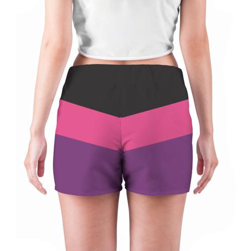 Женские шорты 3D  Фото 04, Полосы угол 5