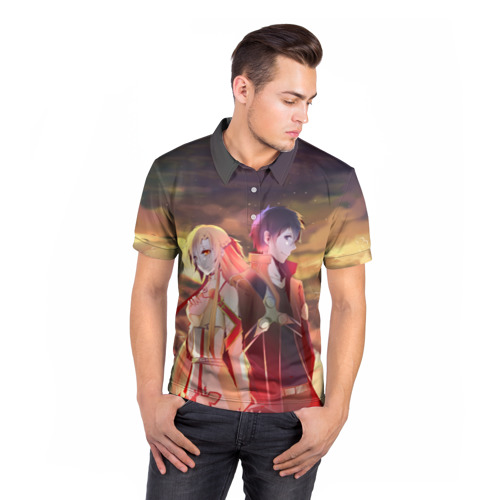 Мужская рубашка поло 3D  Фото 05, Sword Art Online