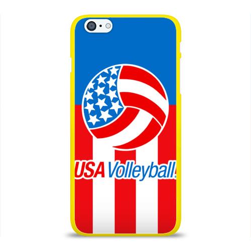 Чехол для Apple iPhone 6Plus/6SPlus силиконовый глянцевый  Фото 01, Волейбол 15