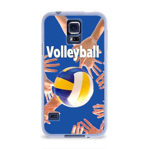 Чехол для Samsung Galaxy S5 силиконовый  Фото 01, Волейбол 24