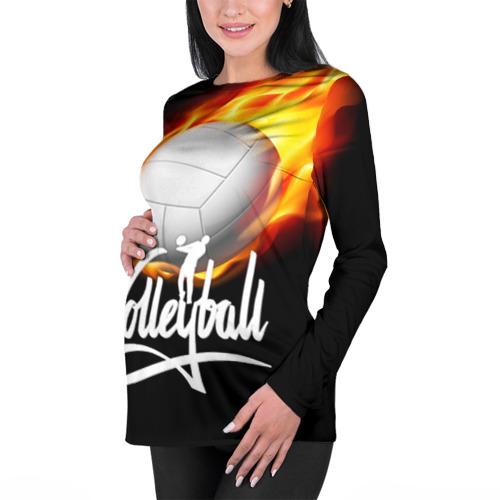 Женский лонгслив 3D для беременных  Фото 01, Волейбол 28